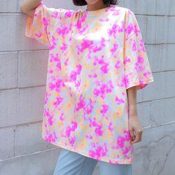 2480 유니크 나염 오버핏 티셔츠 (4colors)