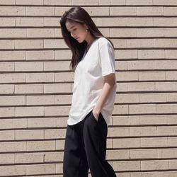 [로코식스] 코튼 브이넥 반팔 티셔츠