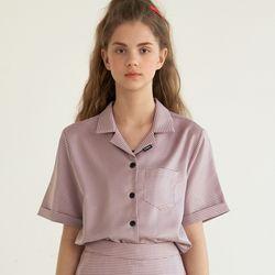 [무료배송] (CTB2) 깅엄 체크 셋업 셔츠 핑크