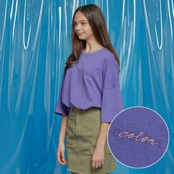 DAILY PIGMENT OVERSIZED TEE PURPLE