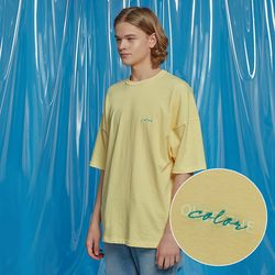 DAILY PIGMENT OVERSIZED TEE YELLOW