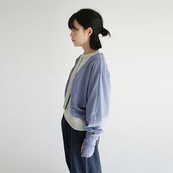 kitch crop lap robe cardigan (blue)