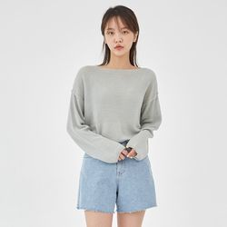 summer lip neckline knit