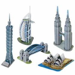 [스콜라스]세계 유명 미니 건축물33D종이입체퍼즐