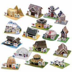 [스콜라스]세계 전통가옥과 전통의상3D종이입체퍼즐