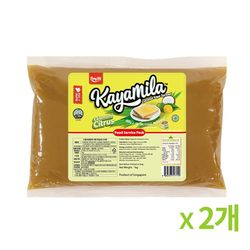 카야밀라 시트러스 귤 칼라만시 카야잼 1kg 2개묶음