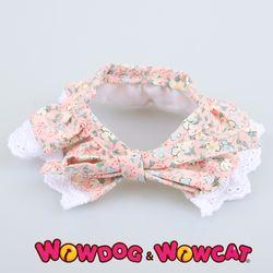 와우독 애견 레이스 스카프-벛꽃 핑크