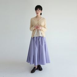 clean outfit midi cardigan (yellow)