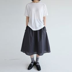 linen easy fit skirts (3colors)