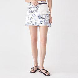 yacht printing skirt (s m)