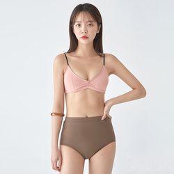matching shirring bikini