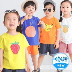 달콤반팔티셔츠 레몬 유아티셔츠