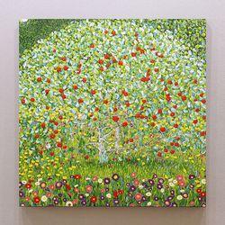 수작업유화 명화 클림튼 사과나무 AT90 특대형그림 인테리어액자