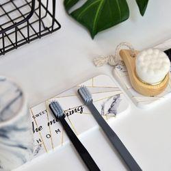 규조토 다용도 트레이 비누 칫솔 받침대 (긴타입) 4color