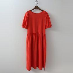 Linen Puff Dress