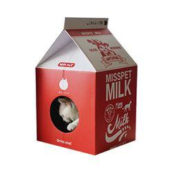 p)미스펫 우유팩 하우스 스크레쳐 (딸기우유)