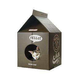 p)미스펫 우유팩 하우스 스크레쳐 (초코우유)