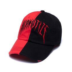 HALF WASHED BASEBALL CAP RED