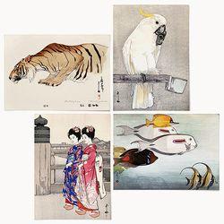 중형 패브릭 포스터 일본 명화 그림 액자 요시다 히로시 best