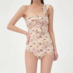 one shoulder flower monokini