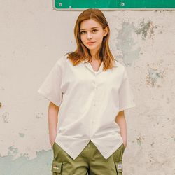 LAMC LEATHER PATCH SHORT SHIRT (IVORY)