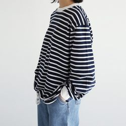 clean stripe fit tee (2colors)