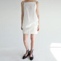 matt cotton mini skirts (2colors)