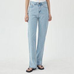 retro slit denim pants (s m)