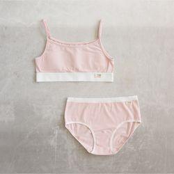 오가닉 핑크 브라팬티 세트 (주니어1단계)
