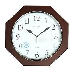 저소음 팔각 벽걸이시계 T6338  건전지1개 포함