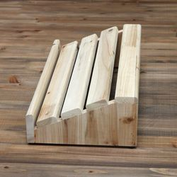 삼나무 원목 발받침대 와이드사이즈 완성품발송