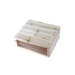 삼나무 원목 모니터 받침대 보조BOX형 완성품발송