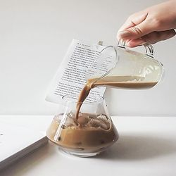 유리 밀크 크리머(200ml)  커피 저그