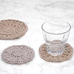 린넨 컵받침 & 냄비받침 - 코바늘키트