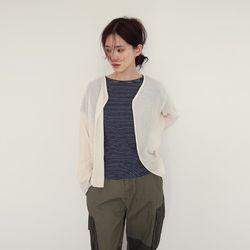 nature linen cardigan (2colors)