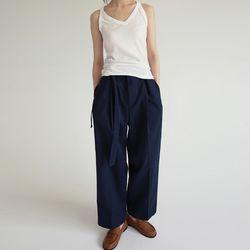 waist strap wide pants (2colors)