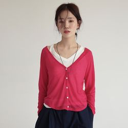 soft v-neck cardigan (5colors)