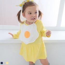 계란후라이 턱받이와 긴팔 바디슈트(0-18개월) 203860