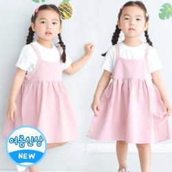 큐티2pc세트 핑크 여아원피스