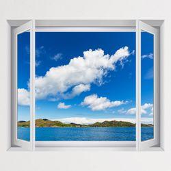 cv437-푸른하늘푸른바다풍경모음창문그림액자(중형)