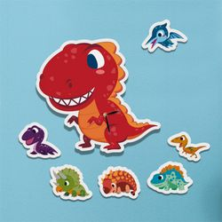 nb002-인테리어벽시계-공룡친구들