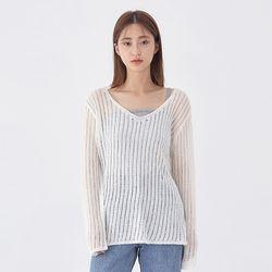 away summer v neck knit