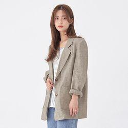 check mate linen jacket
