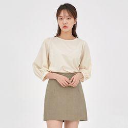 flea soft cotton puff blouse