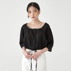 lace square neck crop blouse