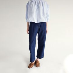 cropped clean denim pants