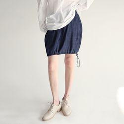denim string mini skirts