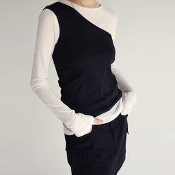 unbalnce slim fit sleevless (4colors)