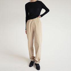 pintuck maxi cotton pants (4colors)