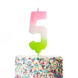 큼직한 솜사탕 숫자초-5 (1개)